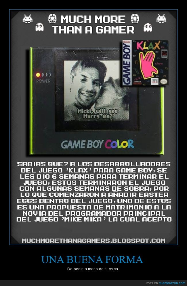 Curiosidad,Game Boy,Klax,Much more tha a gamer