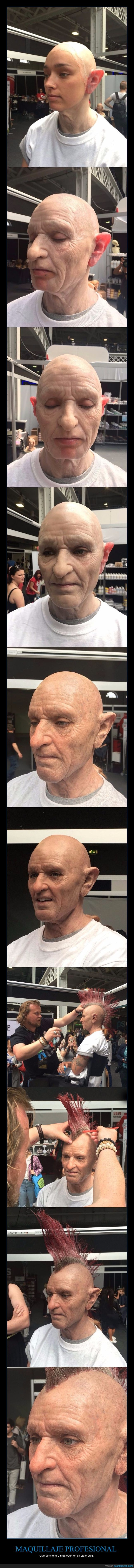 abuelo,maquillaje,máscara