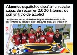 Enlace a Alumnos españoles diseñan un coche capaz de recorrer 2.000 kilómetros con un litro de alcohol