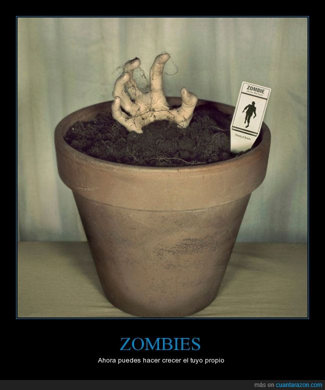 maceta,mano,zombie