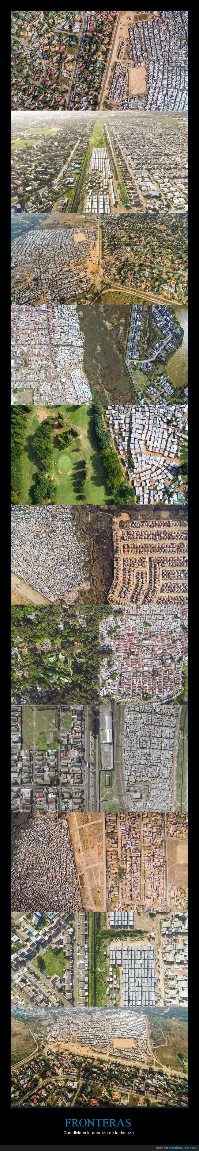 ciudades,drones,fotografías aéreas,pobreza,riqueza