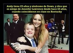 Enlace a Lo que hizo Jennifer Lawrence por su amigo con Down no lo hace cualquiera
