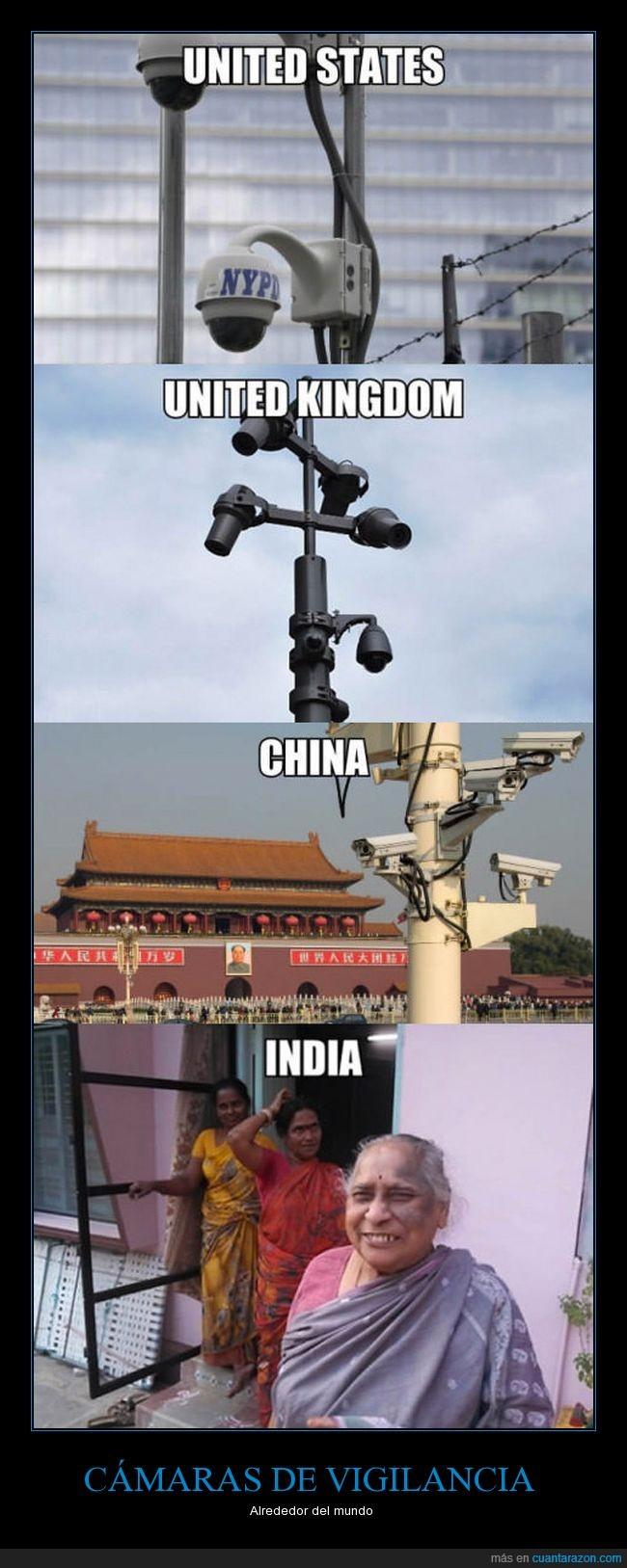 cámaras,como controlan las jodidas,indias,pakis
