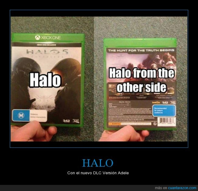 adele,halo,hello from the other side,videjuegos