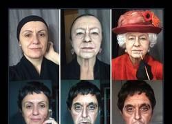 Enlace a Chica se transforma en cualquier famoso sólo con maquillaje