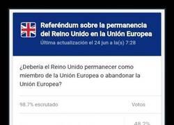 Enlace a Reino Unido vota por dejar la Unión Europea
