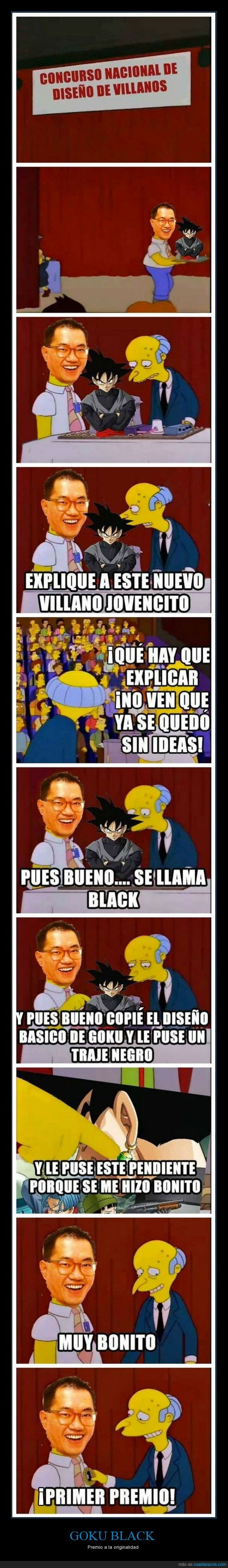 akira toriyama,dragon ball,dragon ball super,goku black,los simpson