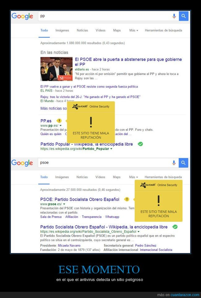 antivirus,politica,PP,PSOE