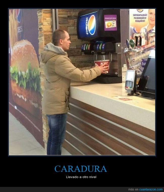 bebida,burger,kfc,refill,rellenar gratis