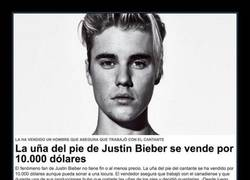 Enlace a Ponen a la venta una de las partes más repugnantes del cuerpo de Justin Bieber