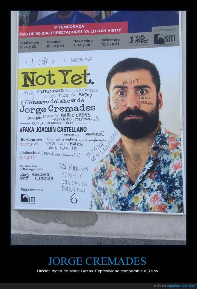 cartel,haters,jorge cremades,obra de teatro