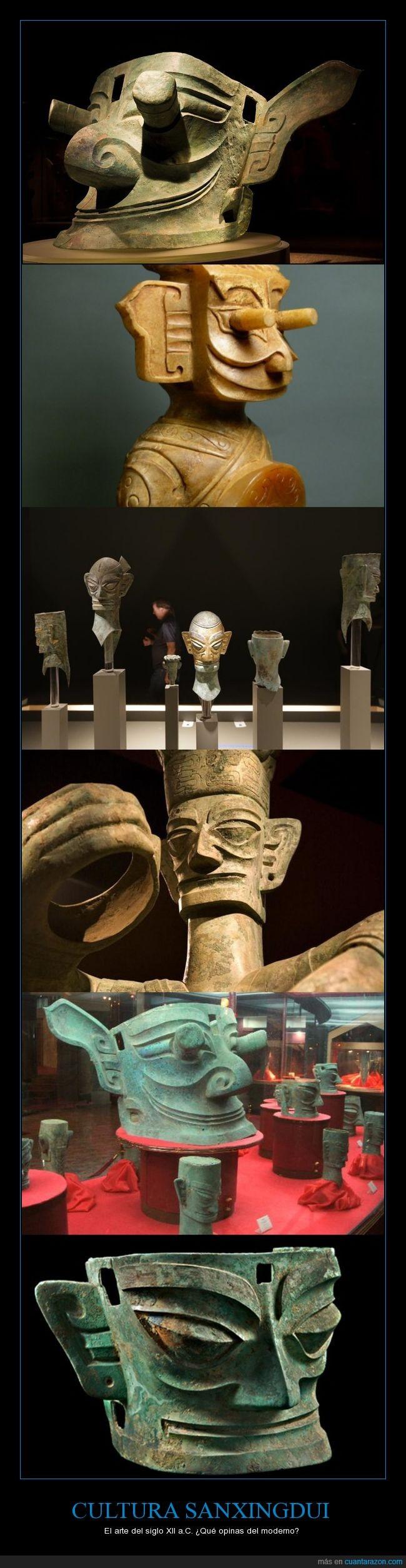 arte,cabezudo,Cultura Sanxingdui,molón,ojudo,orejudo
