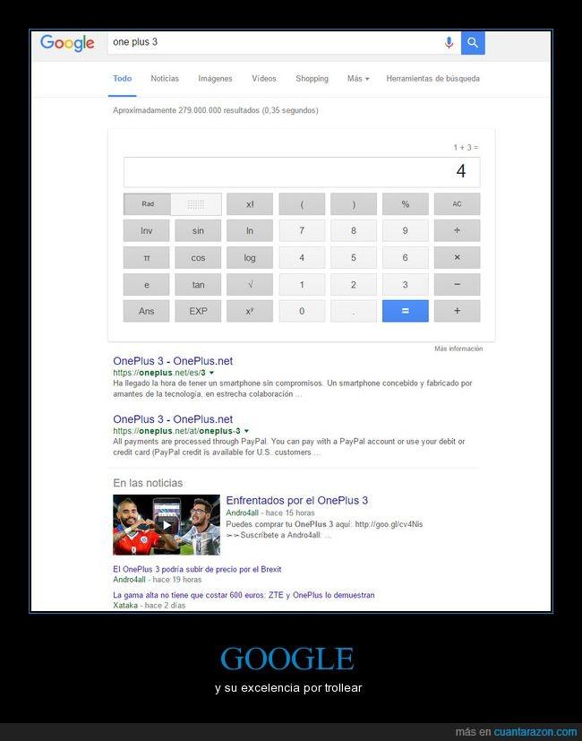 google,one plus,one plus 3,troll