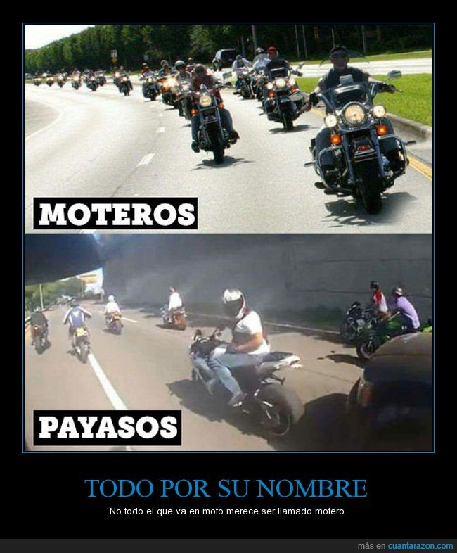 moteros,motos,payasos