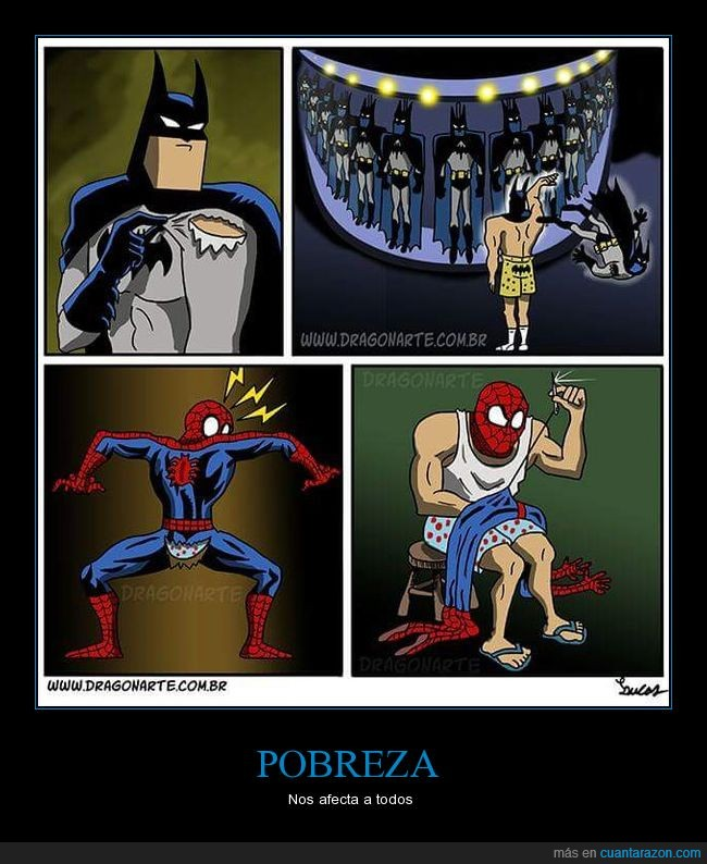 batman,pobre,spiderman,traje