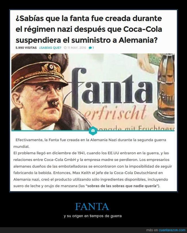 alemania,coca cola,fanta,nazis,origen