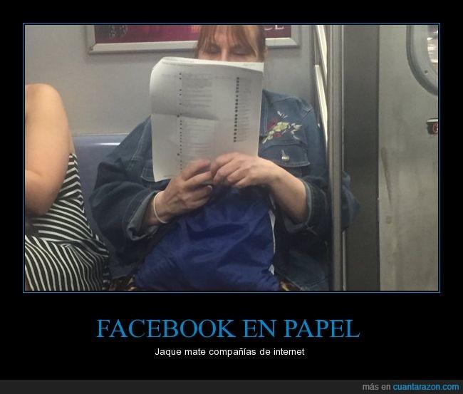 facebook,imprimir,metro
