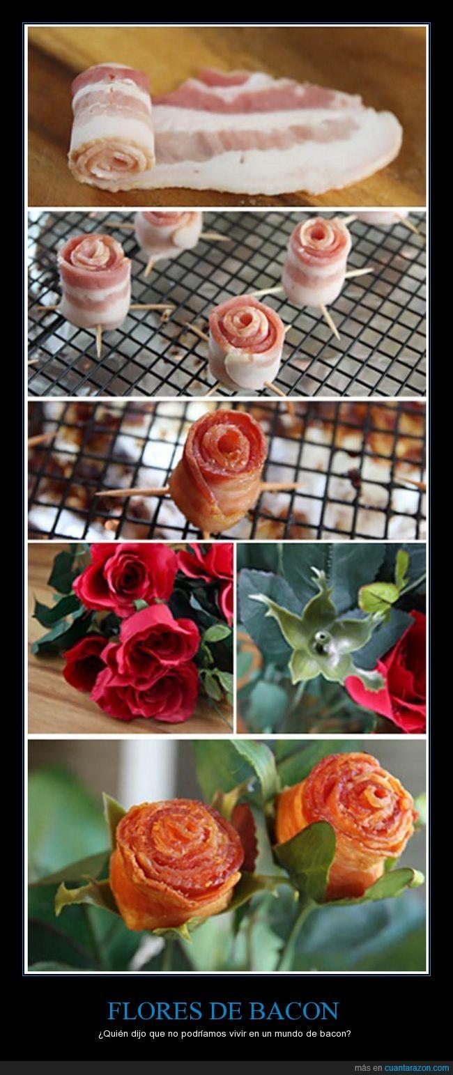 bacon,flores,ramo