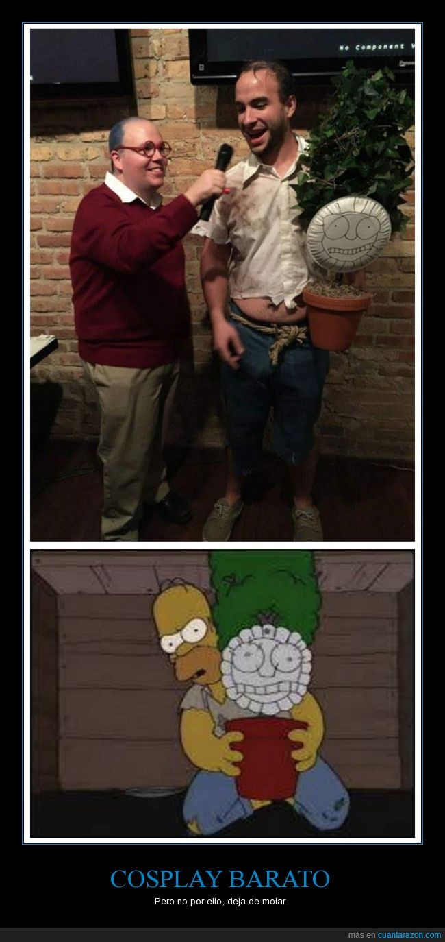 cosplay,homer simpson,maceta