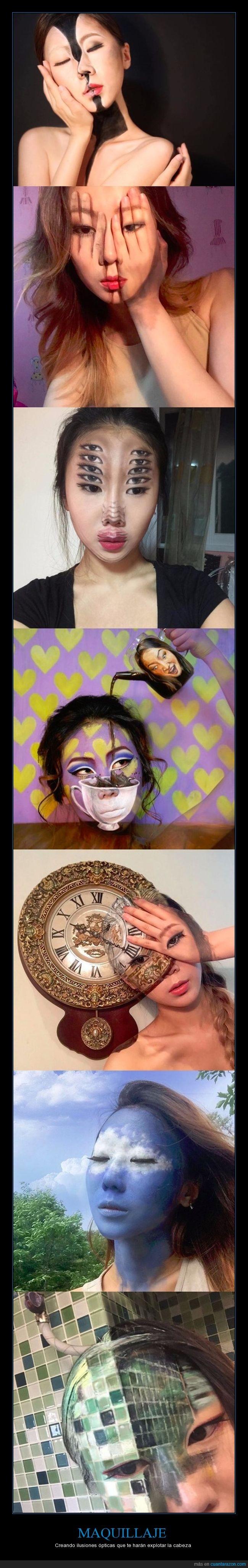 chica,maquillaje,pintura,transparente