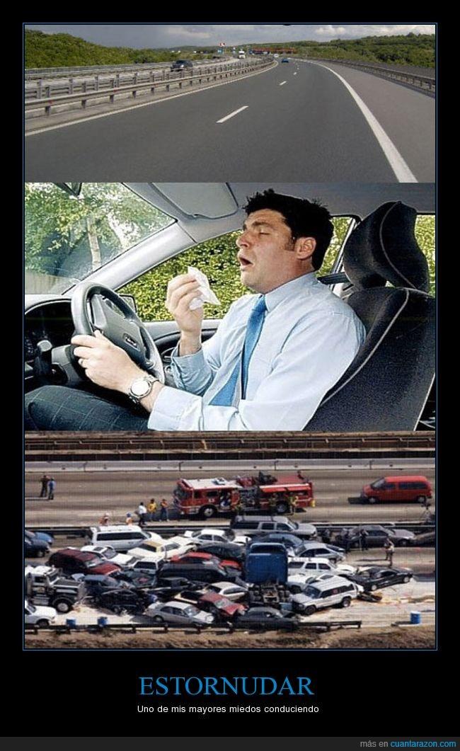 cerras los ojos,conducir,estornudar