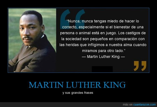 frases,hacer lo correcto,martin luther king