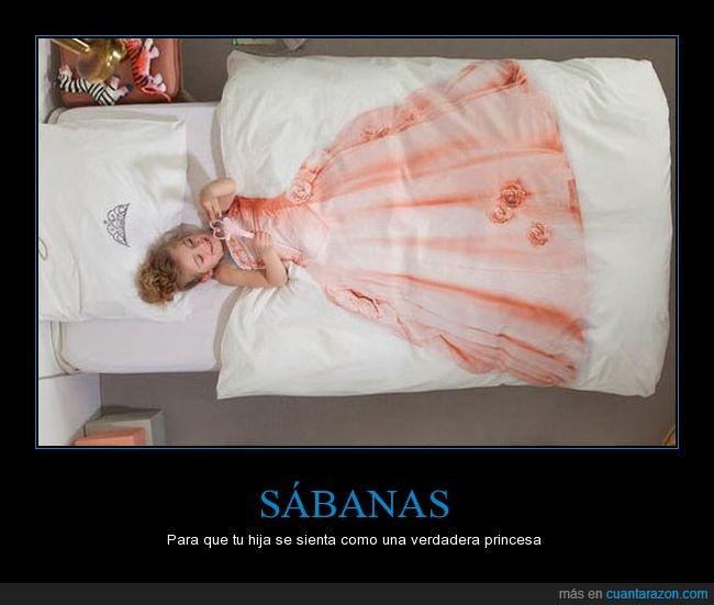 cama,hija,princesa,sábanas