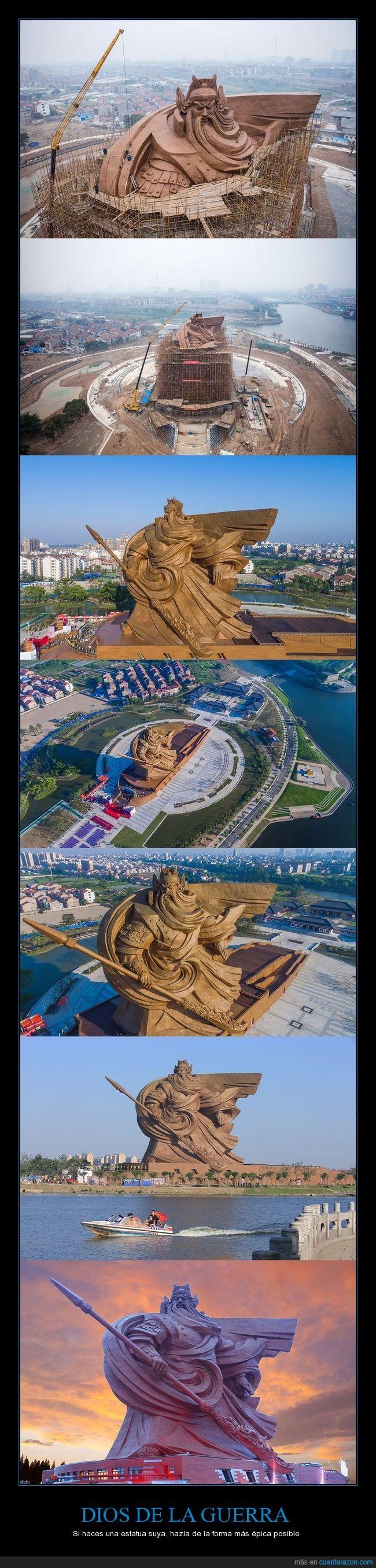 china,dios de la guerra,estatua