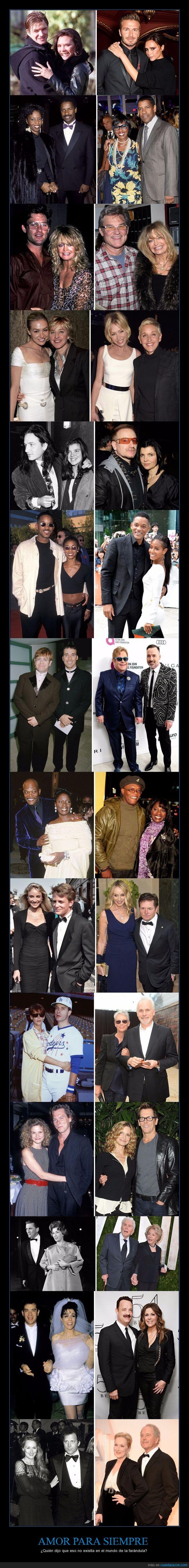 amor,famosos,muchos años,parejas