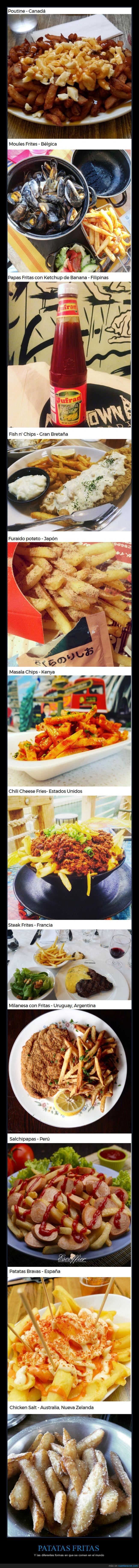 delicias,estilos,mundo,países,papas fritas,patatas
