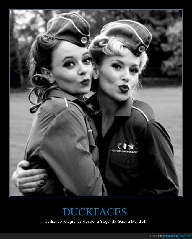 duckface,mujeres,segunda guerra mundial