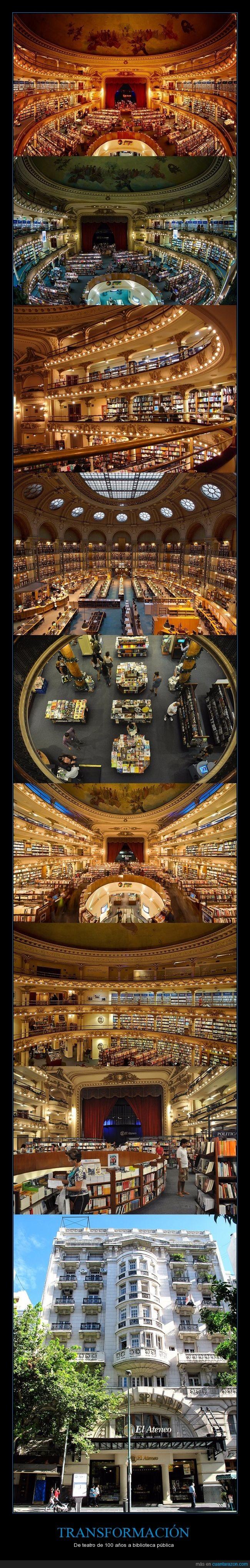 100 años,ateneo,biblioteca,teatro,transformación