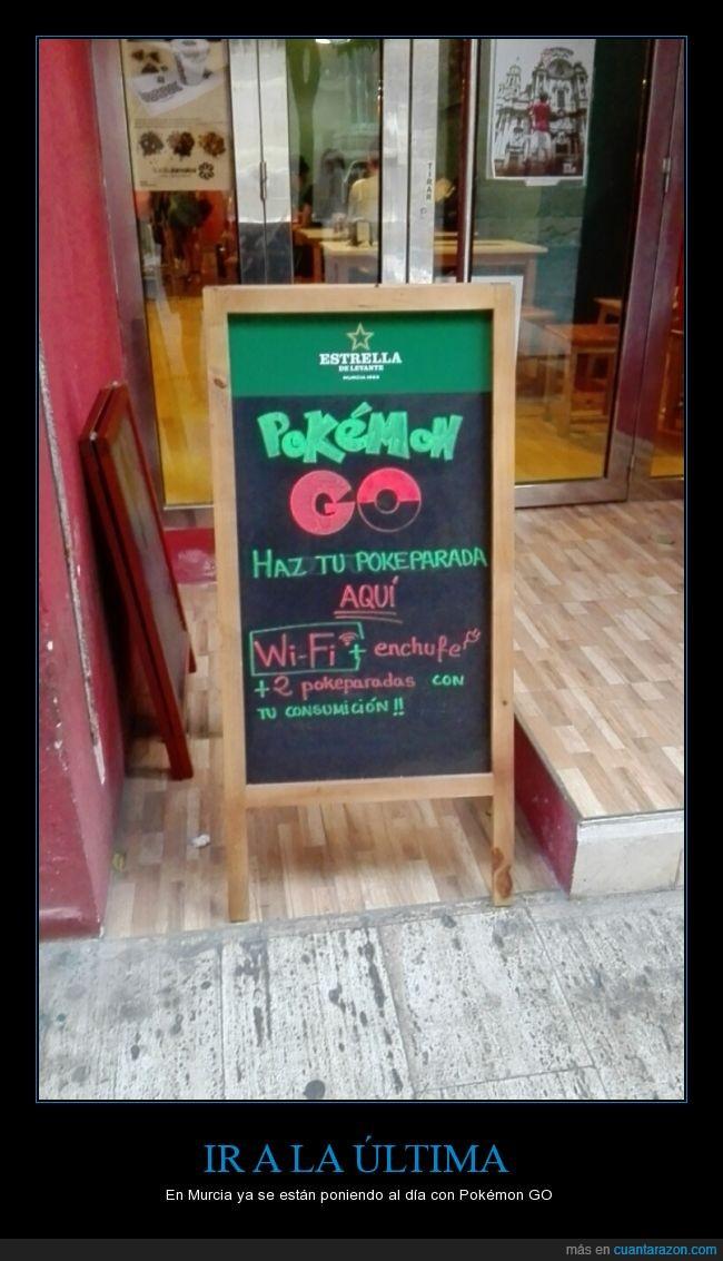 bar,cafetería,calle,Murcia,Pokemon