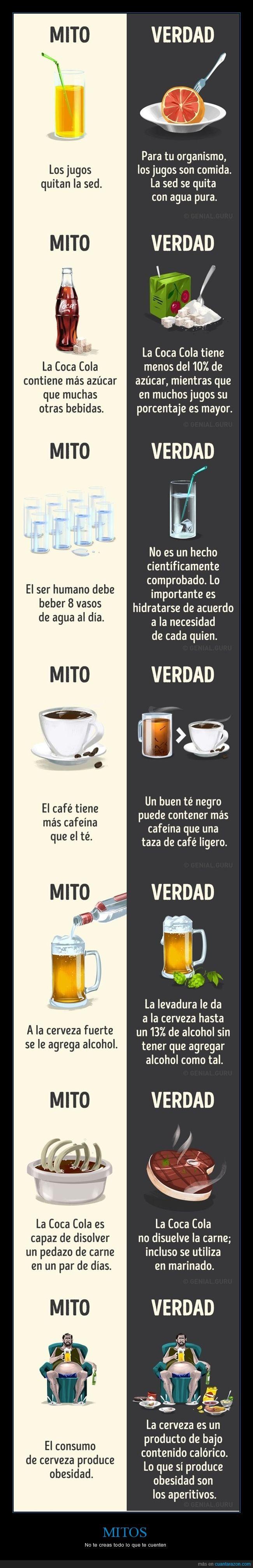 agua,cafe,cerveza,cocacola,mitos,rrah7,te,verdades