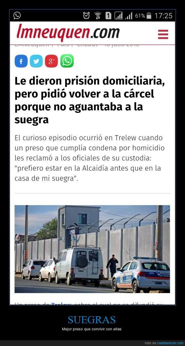 Argentina,Neuquén,prisión,Suegras