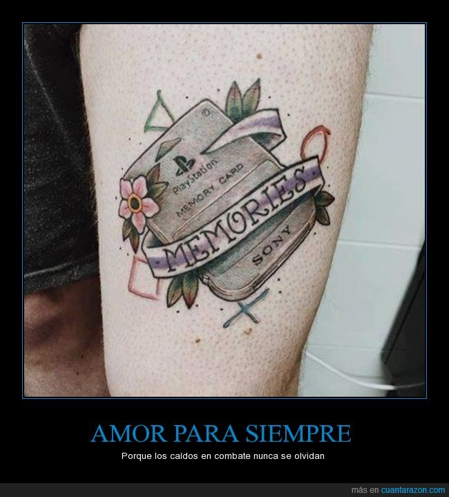 memory card,playstation,tatuaje