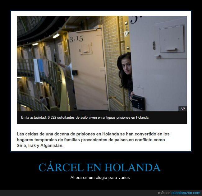 cárcel,Holanda,refugiados