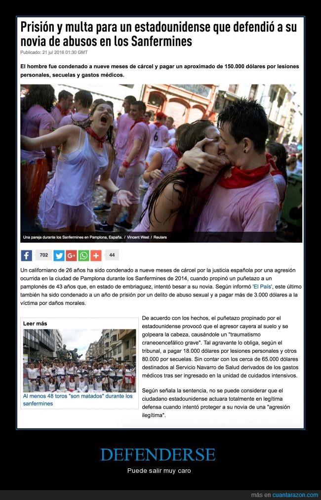 abuso,España,justicia,multa,novia,prisión,Sanfermines