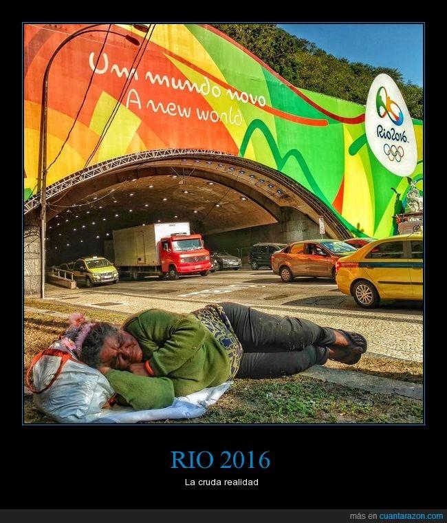 Brasil,jjoo,Juegos olímpicos,Realidad,Vagabundo