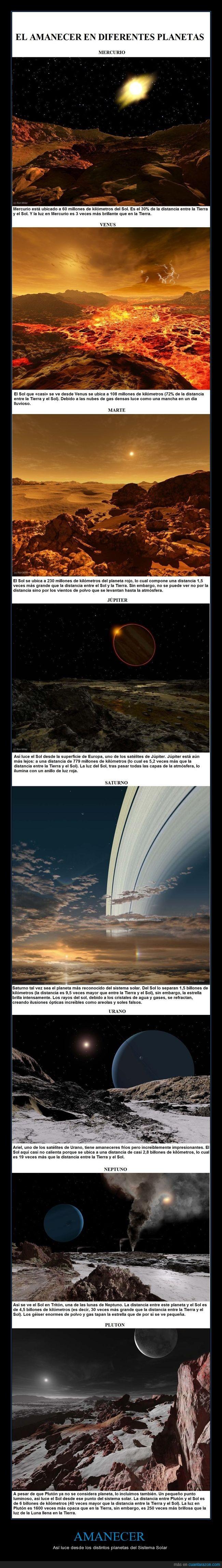 amanecer,digital,ilustración,Ron Miller,sistema solar,sol