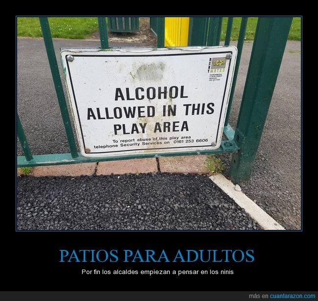 alcohol,ninis,patio,playground