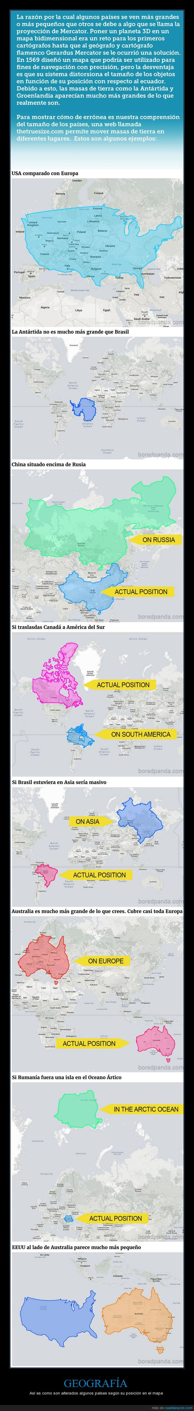 geografía,mapa,países,thetruesize