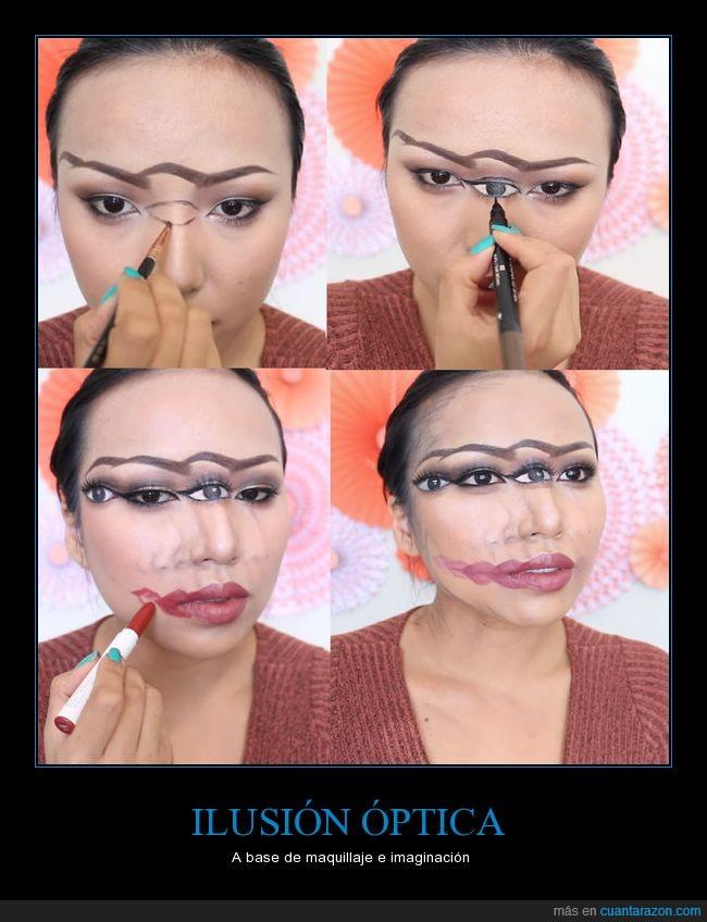 ilusión óptica,maquillaje,original,youtube