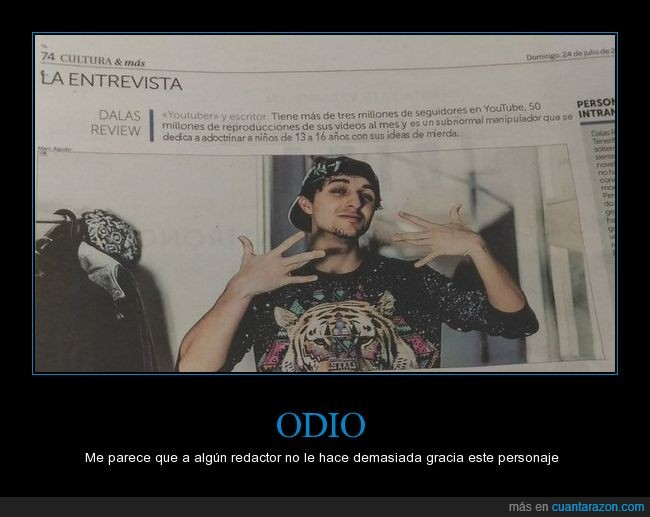 dalas review,odio,review,youtuber