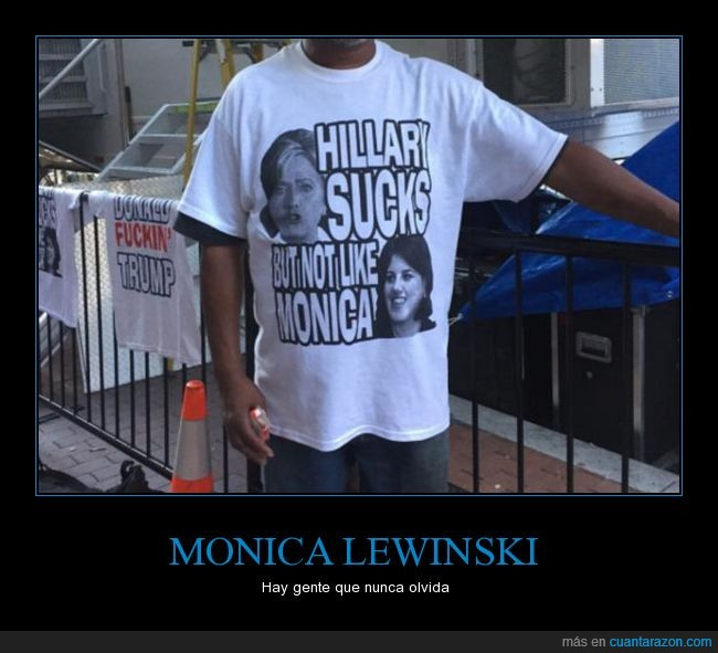 camiseta,hillary sucks,monica lewinski