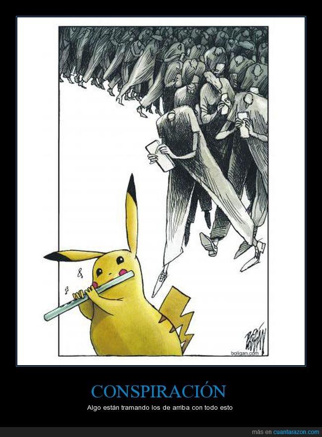 flauta,flautista de hamelín,pikachu,pokémon go,zombies