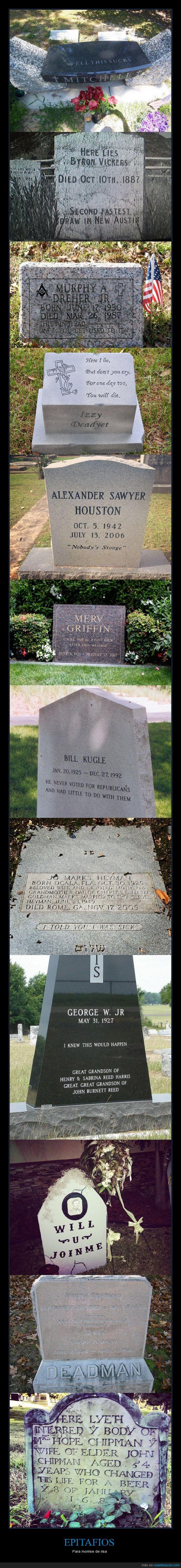 cementerio,epitafios,inglés,morir,muerte,risa,tumba