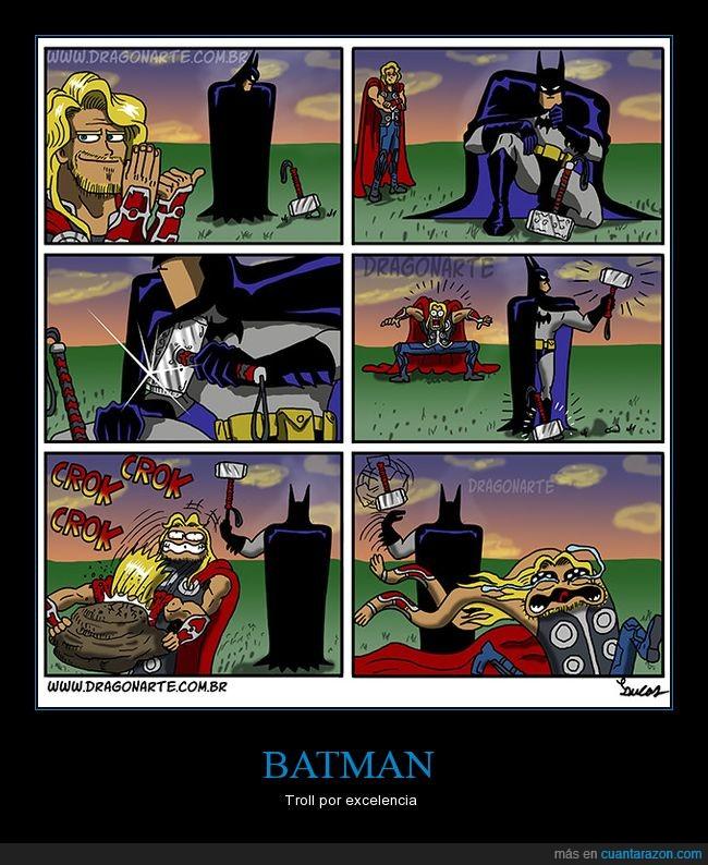 batman,thor,troll