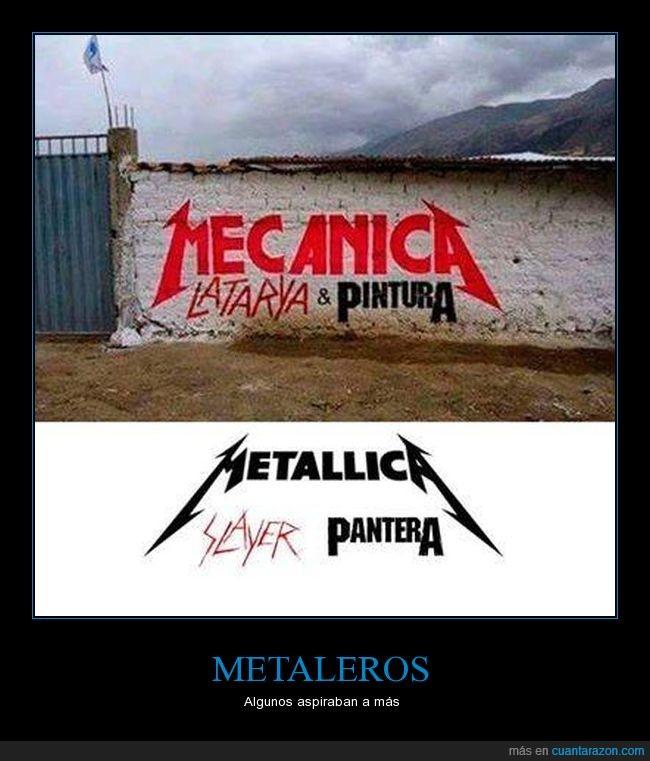 mecánico,metal,metallica,pantera,pintura,slayer