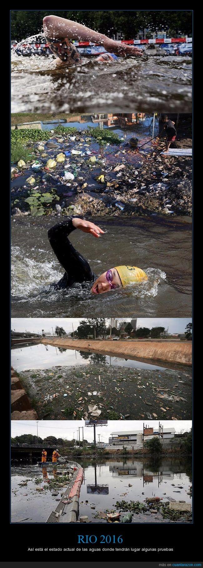 agua sucia,jjoo,juegos olímpicos,rio 2016